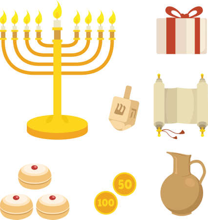 Articles de hanukkah Banque d'images - 79169846