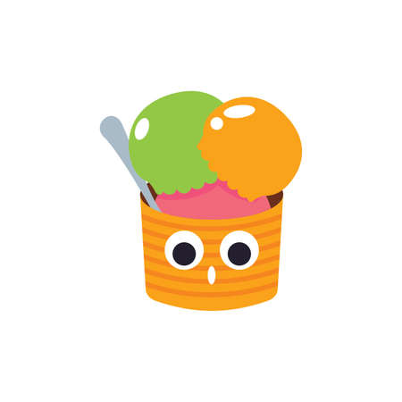 astonish: ice creams in a cup Illustration