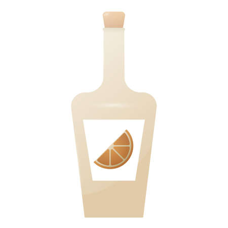 bottle of lime juice Illustration