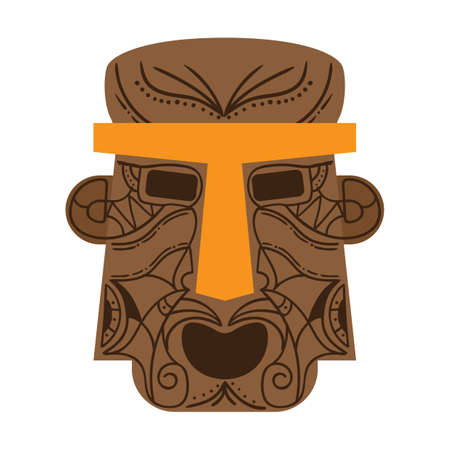 tiki mask Illustration