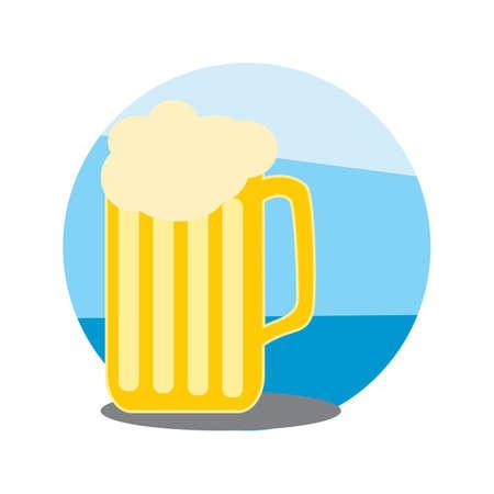 ビールのグラス  イラスト・ベクター素材