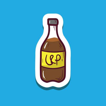 bottle of soda drink Иллюстрация