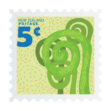 Nieuw Zeeland postzegelontwerp