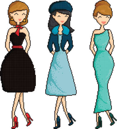 formalwear: pixel art women collection