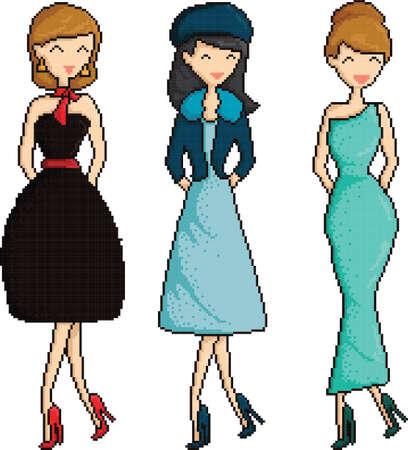 pixel art women collection