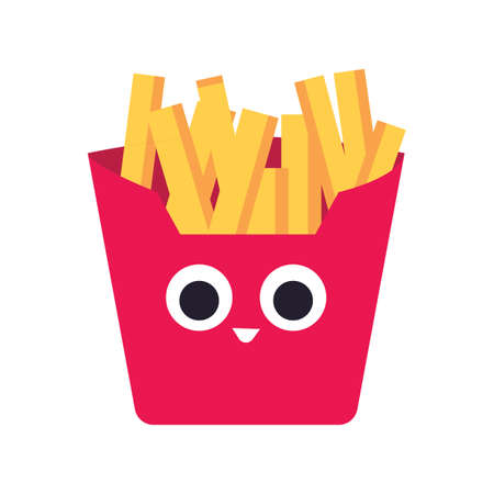 french fries Иллюстрация