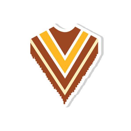 traje mexicano: poncho Vectores