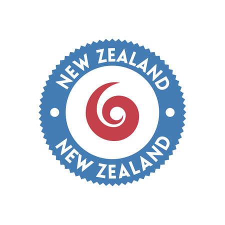 new zealand label design Illusztráció
