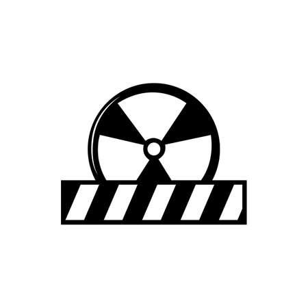 radioactive symbol Illustration