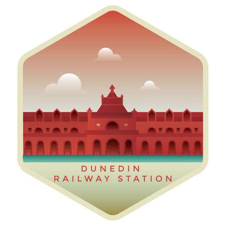 dunedin railway station Illustration