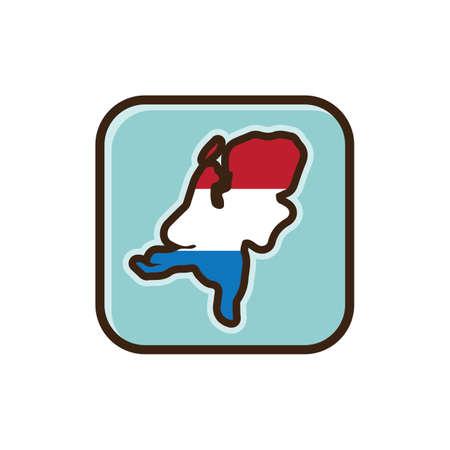 map of netherlands: map of netherlands