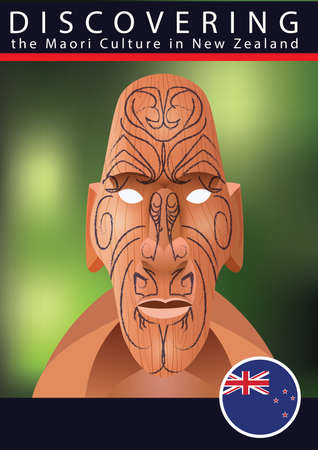 touristic: tiki mask Illustration