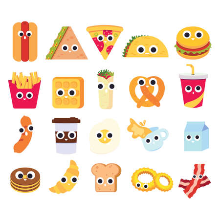 collection of cute foods