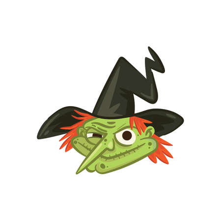 witch with pointy nose