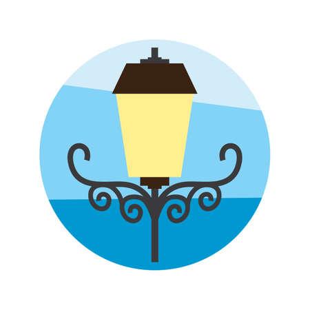 lamp post 向量圖像