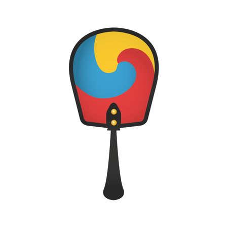 korean hand fan Vektorové ilustrace