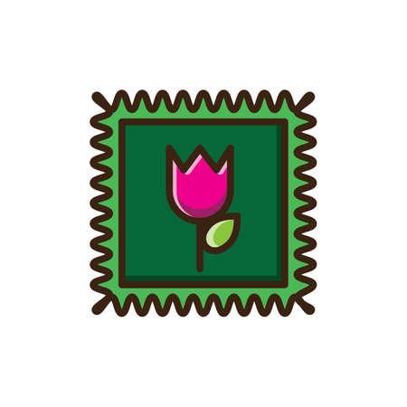 tulip stamp Çizim