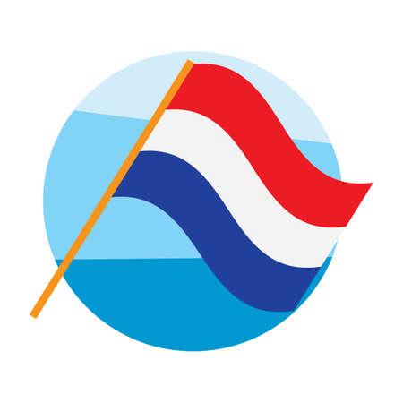 Nederland vlag Stock Illustratie