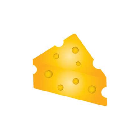 チーズ ブロック  イラスト・ベクター素材