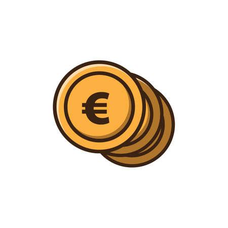 euro coins Ilustração