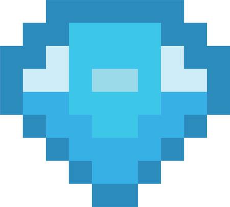 Pixel art diamond Ilustração