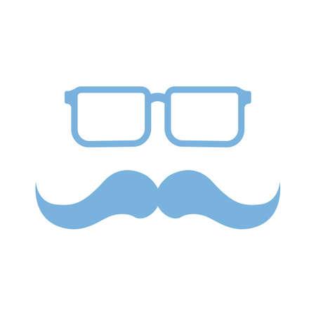 ontwerp voor brillen en snorren