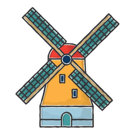 windmill Иллюстрация