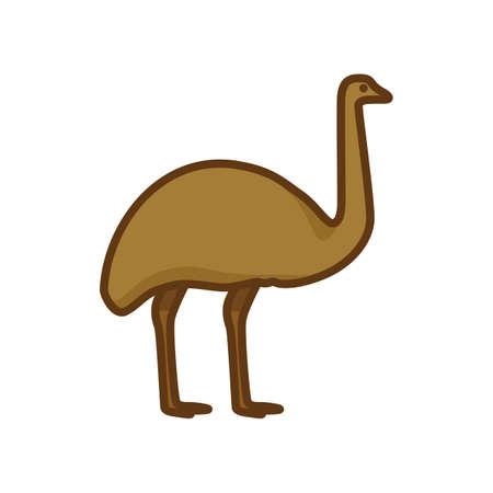flightless: moa Illustration