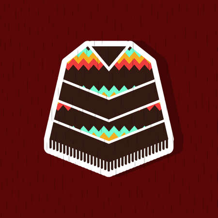 formalwear: poncho Illustration