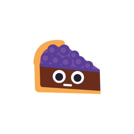 blueberry pie Ilustração