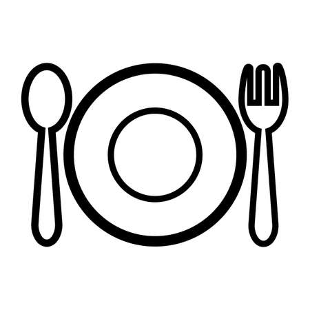 plate with fork and knife Illustration