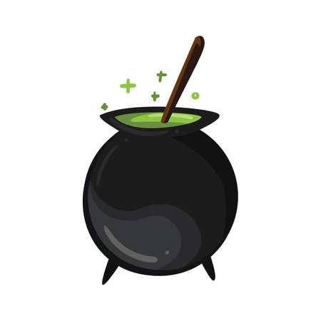 witches cauldron Illustration