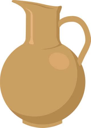 Clay jar isolated Ilustração