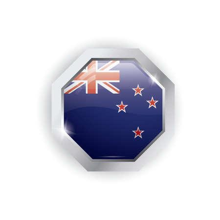 new zealand button design Illustration