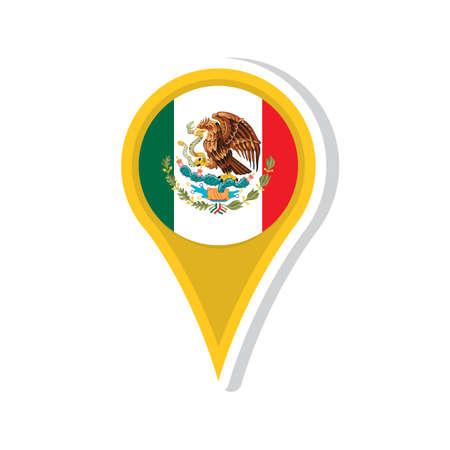 mexico flag design Illustration