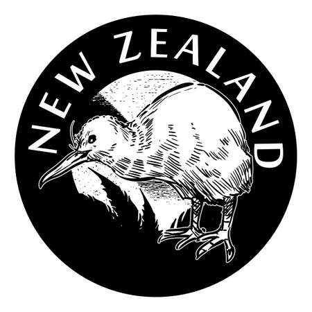 new zealand label design Ilustracja