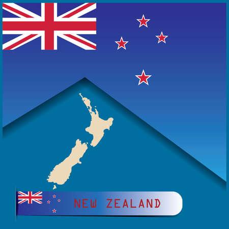 Nieuw-Zeeland ontwerp Stock Illustratie