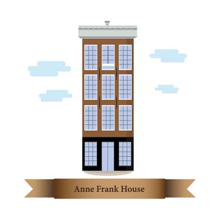 anne frank house Illusztráció