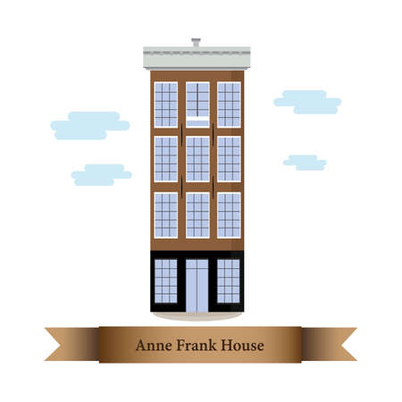 anne frank house 向量圖像