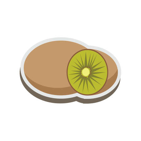 kiwi fruit Stock Illustratie