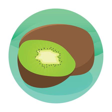kiwi fruit Stock Illustratie