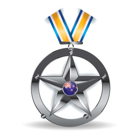 new zealand badge design Illustration