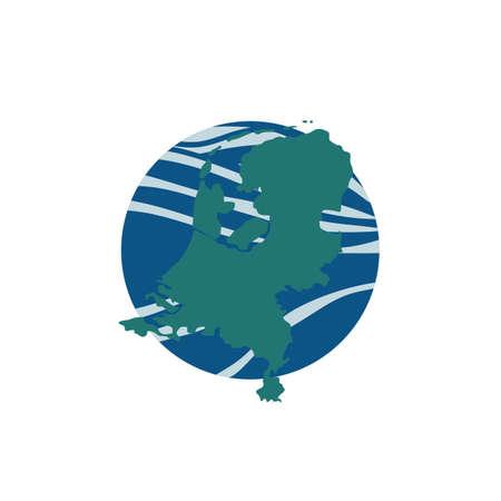 map of netherlands 版權商用圖片 - 79216555