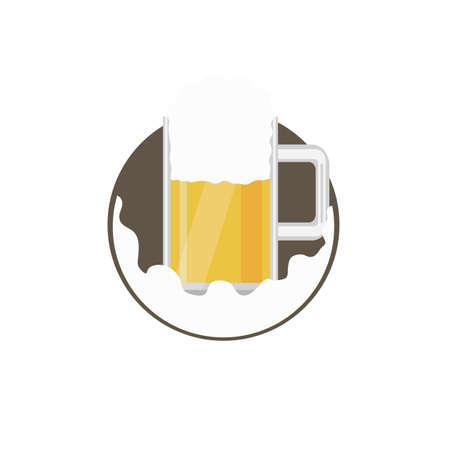 a glass of beer Ilustração