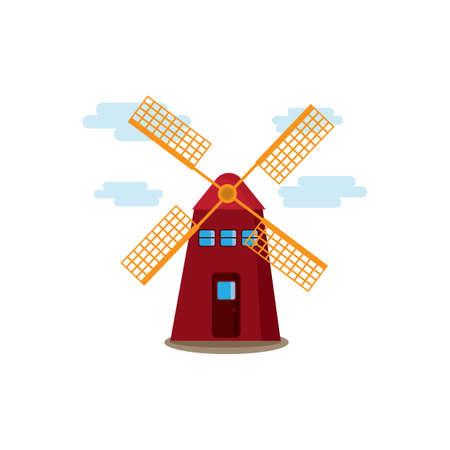 Moulin à Banque d'images - 79216577