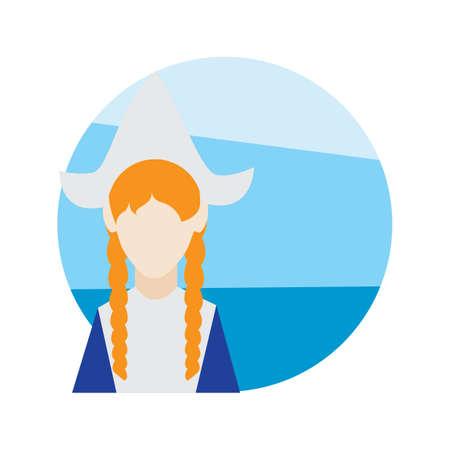 dutch woman Ilustração