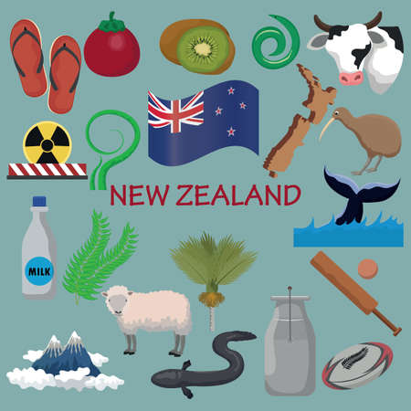set of new zealand icons