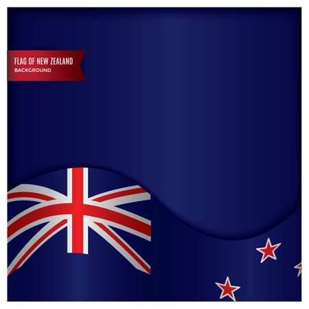 new zealand flag design Stok Fotoğraf - 79216601