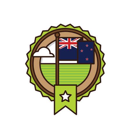 ニュージーランドのラベル デザイン 写真素材 - 79216614