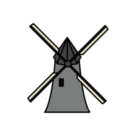 Moulin à Banque d'images - 79216616